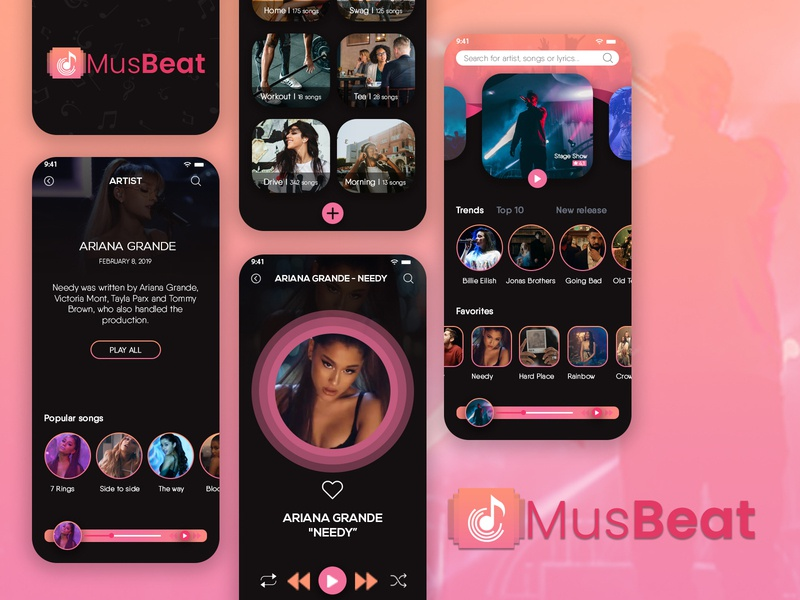 MusBeat | On Demand Music App | X-Byte Solutions on demand app development on demand app app development mobile app development app development company android app development mobile app design mobile app music app design music app on demand music app