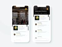 Restaurant App (Review Screens)
