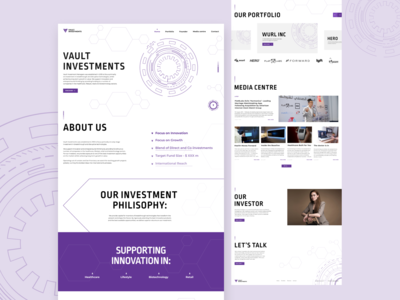 Vault Investments /Corporate website