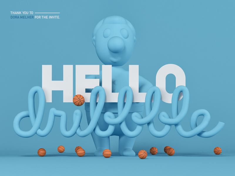 Hello dribbble! hello pastel 3d character design starter