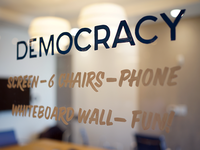 Lettering: Democracy
