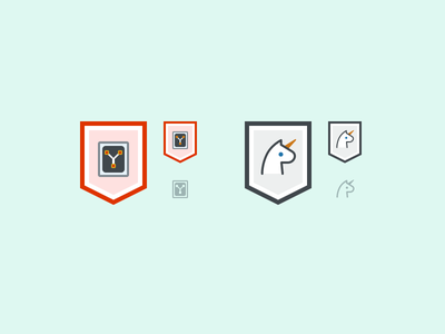 Flux Capacitor and Unicorn Badges back to the future asana badge icon unicorn flux capacitor sci-fi fantasy