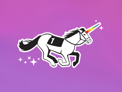 Unicorn Illustration for Asana Swag swag rainbow stars magic illustration unicorn asana