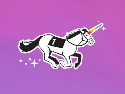 Unicorn Illustration for Asana Swag