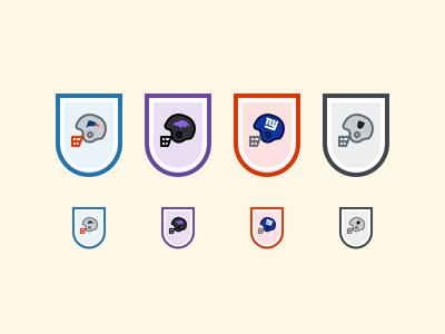 NFL Helmets: Patriots, Ravens, Giants and Raiders