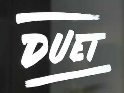 Lettering: Duet