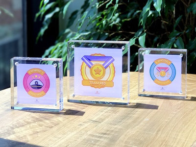 International Week Prizes trophy champion medal award prize