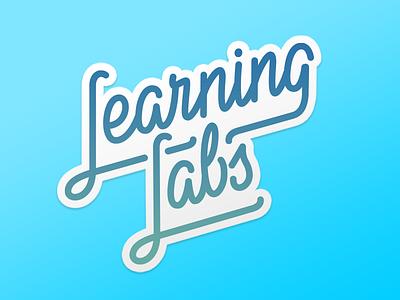 Learning Labs Logo Lettering asana script logo calligraphy lettering