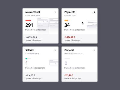 Quipu Banks Snapshot Cards quipu snapshot statement cards ui cards bookkeeping accounting banks ui