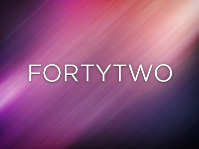 Forty Two wallpaper ios iphone ipad fortytwo 42