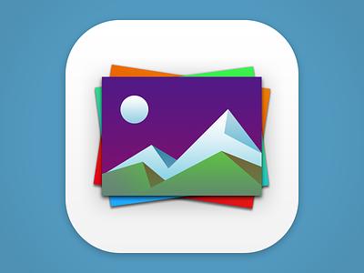 Photos+ Icon photos ios app icon secondgear