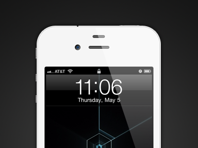 White iPhone 4 (with PSD) white iphone thirty minute quick exercise freebie psd