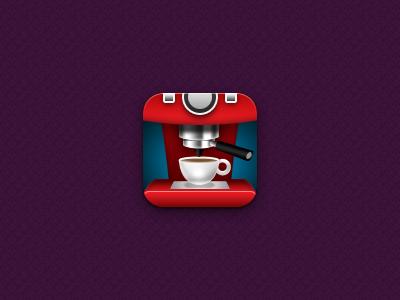 Mmm, caffeine. coffee cappuccino caffeine cup machine purple red white