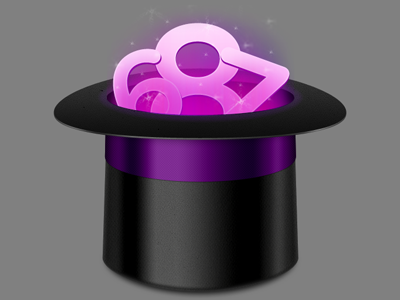 Magic Hat with Numbers mac osx desktop icon 512 magic hat glow numbers