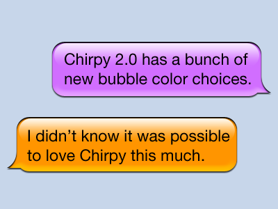Chirpy Bubbles chirpy bubble chat high order bit photoshops type tool sucks