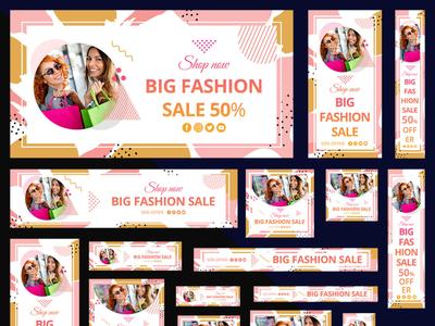 Multipurpose Fashion & Shopping Web Banners