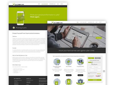 MyCyberCare - Web design wordpress sercurity website webdesign ux ui insurance icons ibay graphicdesign developers branding