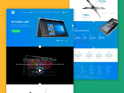HP Website Redesign