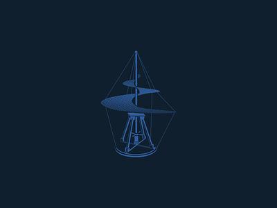 Da Vinci Arial Screw Illustration davinci vector art logo icon illustration flying machine