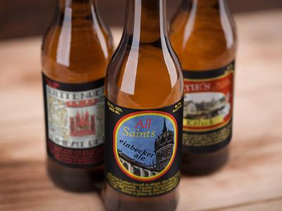 Beer Labels porter print label beer church community brewing brewery castle logo studio phoenix graphic steel design