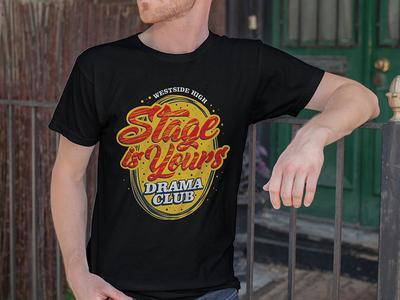 Drama Club T-shirt pays poetry acting mockup red yellow black texas high school club drama t-shirt graphic custom art vector design studio digital phoenix steel