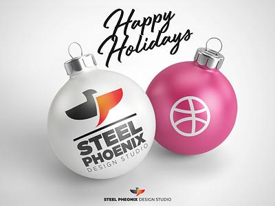 happy holidays family marry happy holiday new year new year 2019 christmas branding vector art print mockup logo design graphic illustration studio digital phoenix steel