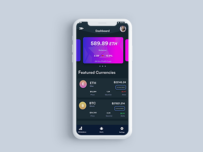 Crypto Currency App UI design