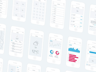Mobile Wireframe Kit wireframe ui ux kit iphone mobile blueprint user experience free
