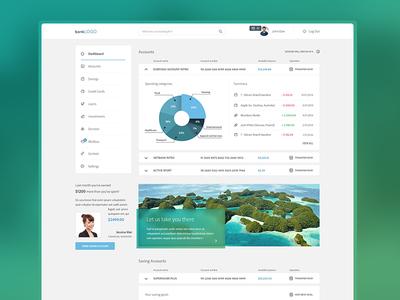 Bank Dashboard deshboard bank account profile numbers clean ui graph flat pie chart admin panel