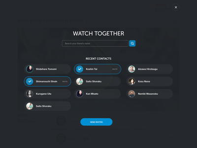 Watch Together feed friends interactive sport tennis user experience app ux watch user interface ui