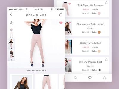 Connected Bag Mobile App shop phone mobile woman clothes fashion ux ui iphone apple ios app