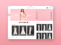 iPad Dashboard for Bridal Shopping Assistant