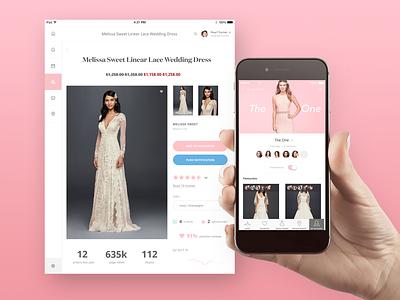 Bridal App dashboard ux ui iphone ios ipad app clothes woman dress bridal fashion
