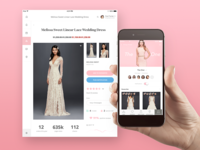 Bridal App dashboard ux ui iphone ios ipad app clothes woman dress bridal fashion