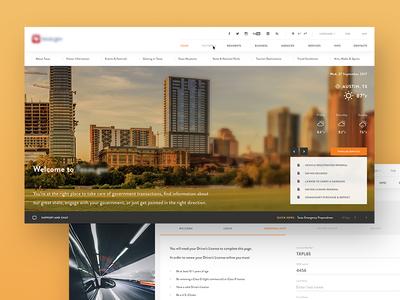State Homepage orange onboarding dashboard website homepage goverment texas clean ux ui