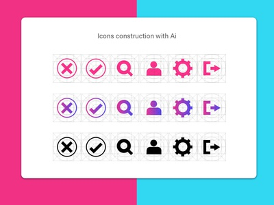 Icons construction with AI