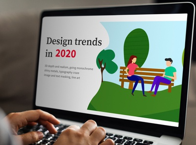 Design trends 2020 illustration