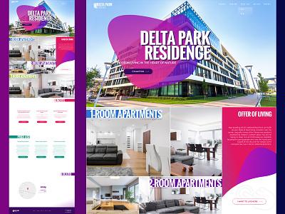 Landing page for Delta Park Residence logo figma xd ux ux design ux ui design landing page web site web deisgn web