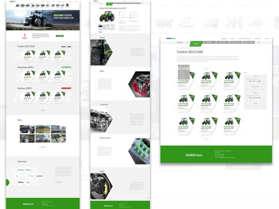 Web page for the agrocompany xd photoshop ux
