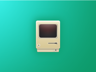 Macintosh 128K illustration icon vector macintosh 128k mac apple sketch 3 macintosh