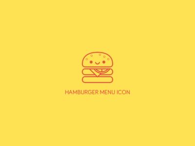 Hamburger Menu Icon.