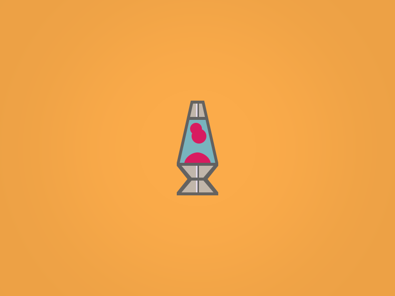 Lava Lamp Icon  by Dave Gamez on Dribbble