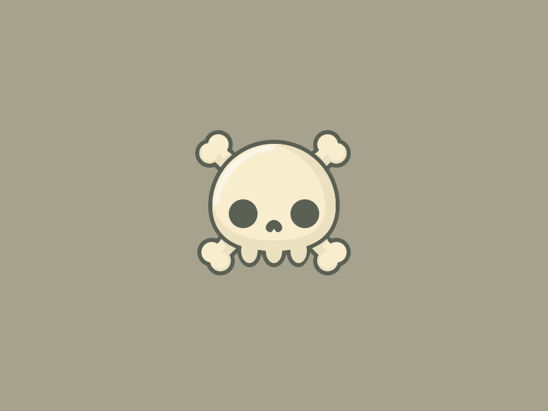 Skull Icon  by Dave Gamez on Dribbble