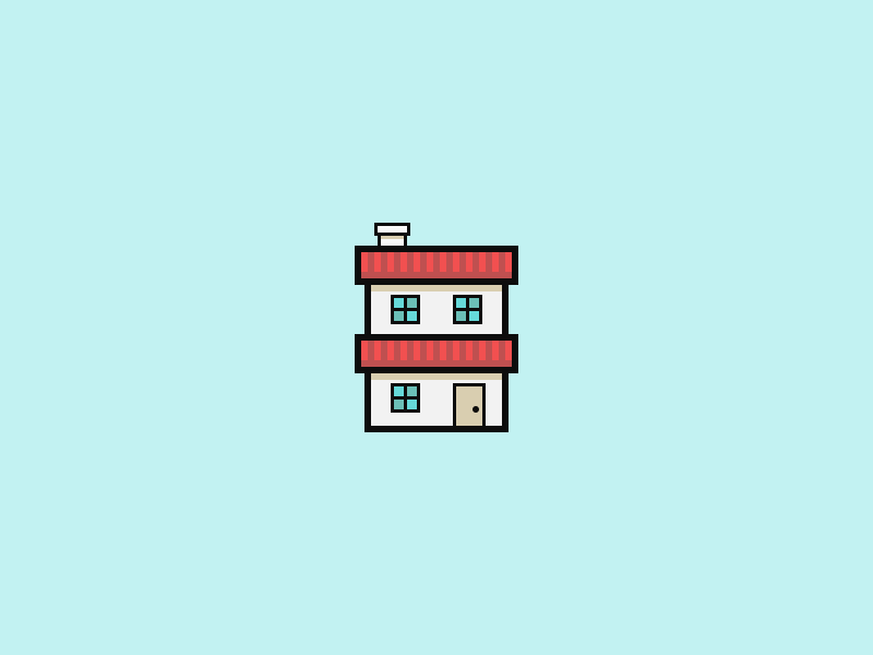 House Icon. 64x64 aniconaday icon design flat flat design casa home house 64by64