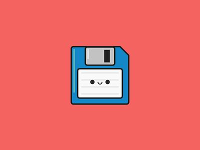 Save Icon. A.K.A. Floppy Disk Icon. flat design 64by64 64x64 happyicons saveicon icondesign iconaday icon floppydisk