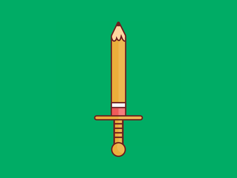 Pencil Sword. by Dave Gamez - Dribbble