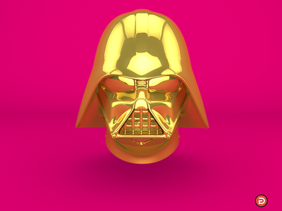 May the 4th be with You! golden gold helmet darthvader 3d vader maythe4thbewithyou starwarsday starwars