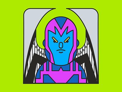 Archangel - Classic Costume. xmen classic flat illustration comics marvel archangel xmenapocalypse