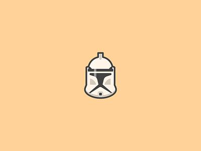Clone Trooper Icon. flat icon iconography helmet graphic vector art outline design illustration icons starwars clone trooper
