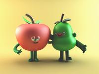 Fruit Buddies. 🍎&🍐